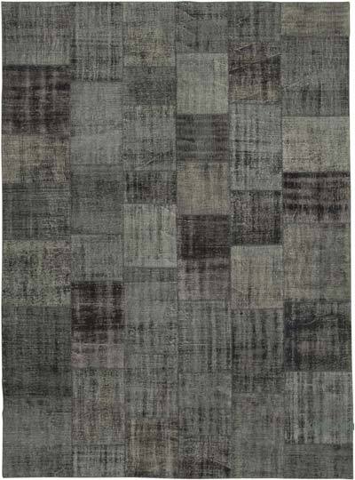 """Hand-knotted Turkish Patchwork Rug - 8' 5"""" x 11' 7"""" (101 in. x 139 in.)"""