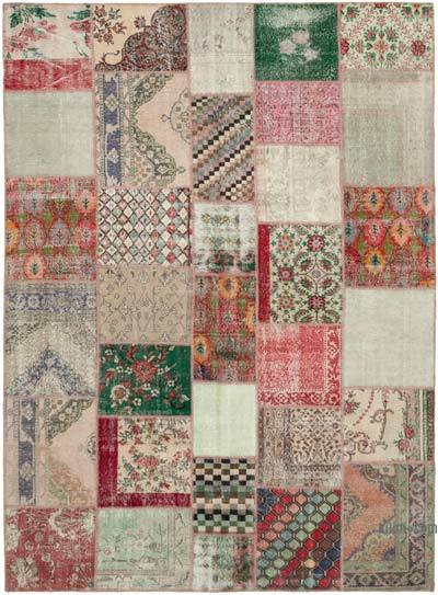 "Hand-knotted Turkish Patchwork Rug - 8' 8"" x 12'  (104 in. x 144 in.)"