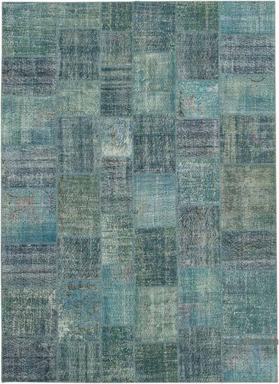 "Hand-knotted Turkish Patchwork Rug - 8' 4"" x 11' 7"" (100 in. x 139 in.)"