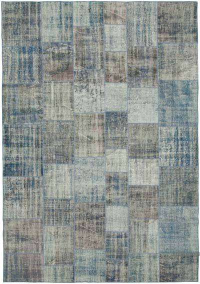 "Hand-knotted Turkish Patchwork Rug - 8' 1"" x 11' 8"" (97 in. x 140 in.)"
