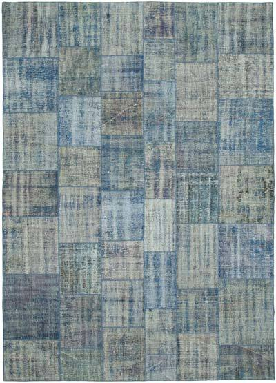 """Hand-knotted Turkish Patchwork Rug - 8' 2"""" x 11' 5"""" (98 in. x 137 in.)"""