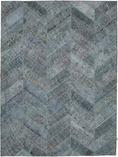 "Hand-knotted Turkish Patchwork Rug - 9' 1"" x 12' 1"" (109 in. x 145 in.)"