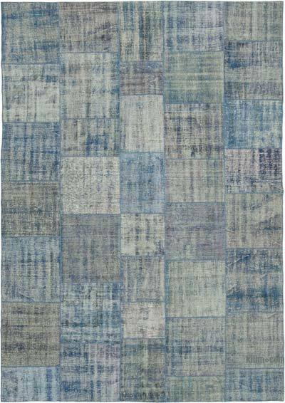 "Hand-knotted Turkish Patchwork Rug - 8'  x 11' 5"" (96 in. x 137 in.)"