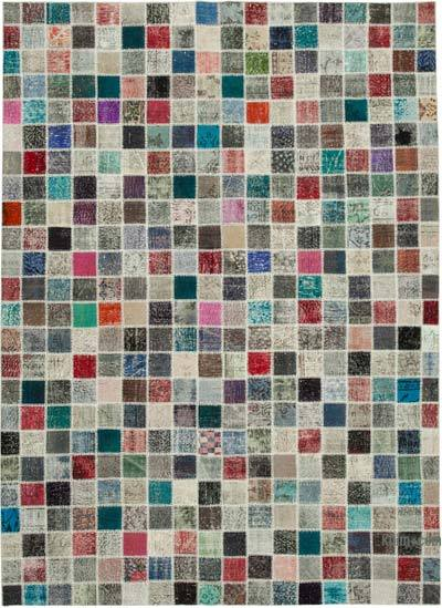 "Hand-knotted Turkish Patchwork Rug - 8' 4"" x 11' 5"" (100 in. x 137 in.)"