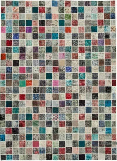 Alfombra De Retazos Turca Sobre-teñida - 253 cm x 348 cm