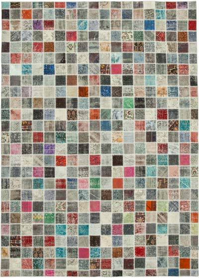 "Hand-knotted Turkish Patchwork Rug - 8' 4"" x 11' 8"" (100 in. x 140 in.)"