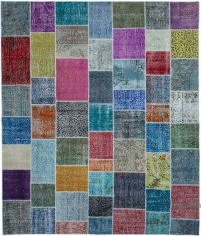 "Hand-knotted Turkish Patchwork Rug - 8' 2"" x 9' 9"" (98 in. x 117 in.)"