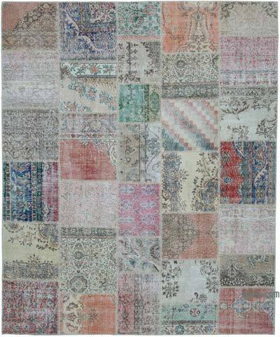 "Hand-knotted Turkish Patchwork Rug - 8' 2"" x 9' 11"" (98 in. x 119 in.)"
