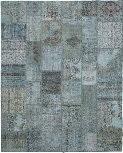 "Hand-knotted Turkish Patchwork Rug - 7' 11"" x 9' 10"" (95 in. x 118 in.)"