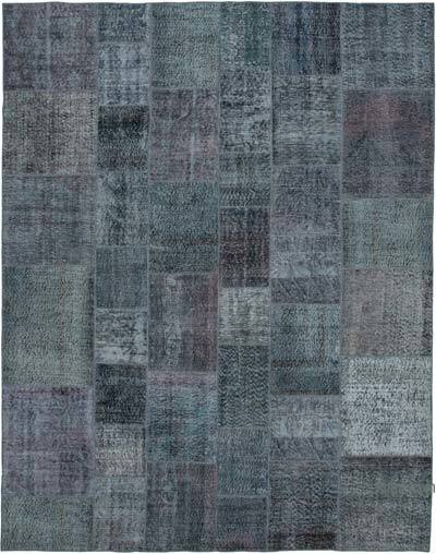 "Hand-knotted Turkish Patchwork Rug - 7' 9"" x 9' 11"" (93 in. x 119 in.)"
