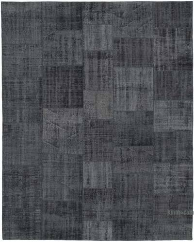 "Hand-knotted Turkish Patchwork Rug - 8'  x 10' 3"" (96 in. x 123 in.)"