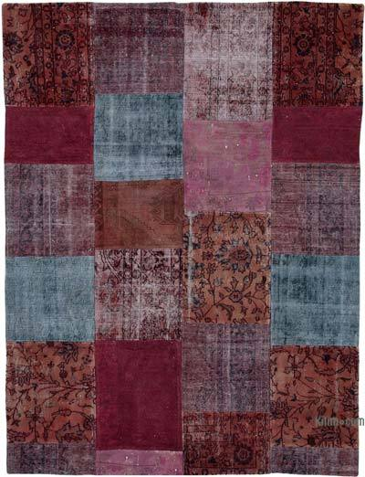 "Hand-knotted Turkish Patchwork Rug - 7' 8"" x 10' 1"" (92 in. x 121 in.)"