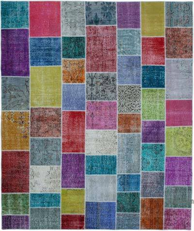 "Hand-knotted Turkish Patchwork Rug - 8' 3"" x 9' 10"" (99 in. x 118 in.)"