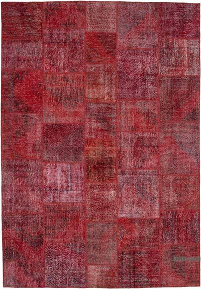 "Hand-knotted Turkish Patchwork Rug - 8' 2"" x 11' 8"" (98 in. x 140 in.)"