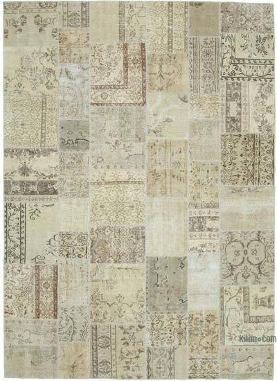 "Patchwork Hand-Knotted Turkish Rug - 8' 2"" x 11' 6"" (98 in. x 138 in.)"