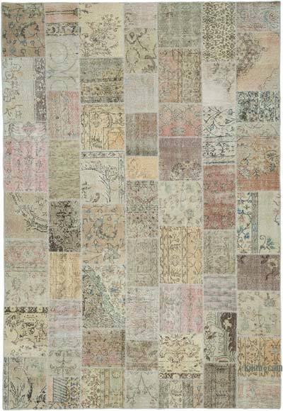"Hand-knotted Turkish Patchwork Rug - 7' 11"" x 11' 6"" (95 in. x 138 in.)"