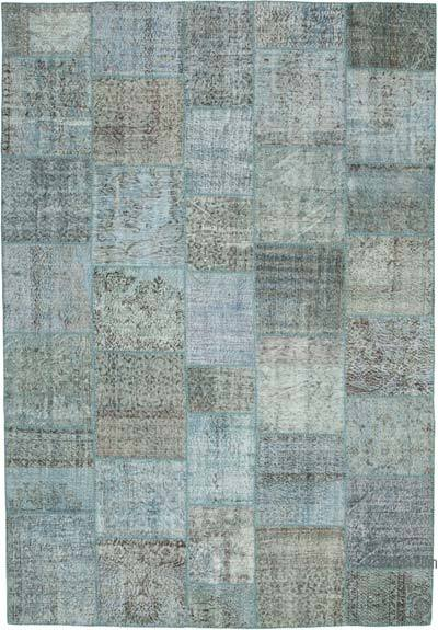 "Hand-knotted Turkish Patchwork Rug - 8' 3"" x 11' 8"" (99 in. x 140 in.)"