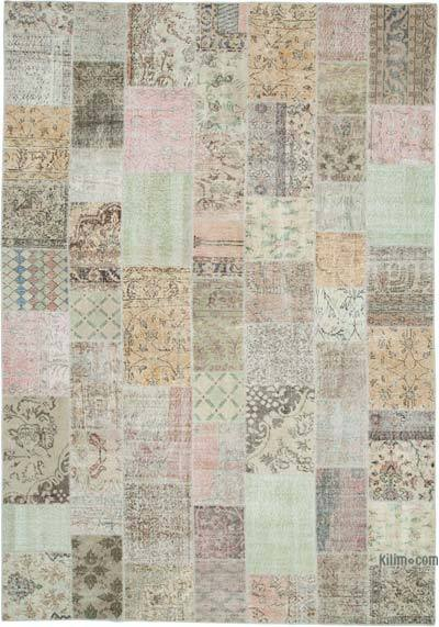 "Hand-knotted Turkish Patchwork Rug - 7' 11"" x 11' 4"" (95 in. x 136 in.)"