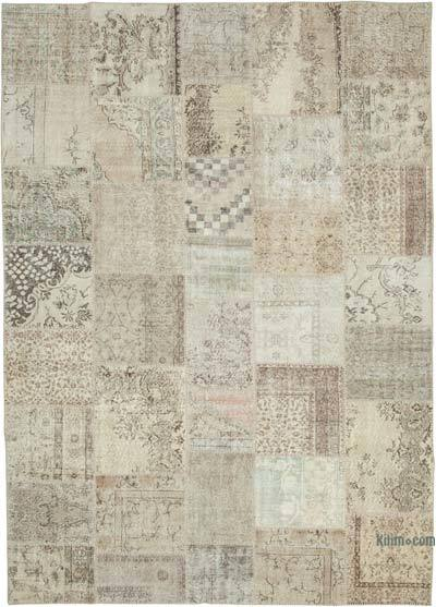 "Hand-knotted Turkish Patchwork Rug - 8' 1"" x 11' 5"" (97 in. x 137 in.)"