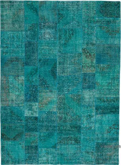 """Patchwork Hand-Knotted Turkish Rug - 8' 3"""" x 11' 6"""" (99 in. x 138 in.)"""