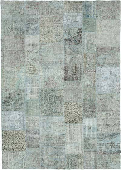 "Hand-knotted Turkish Patchwork Rug - 8' 3"" x 11' 6"" (99 in. x 138 in.)"