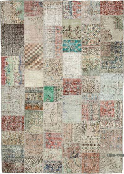 "Patchwork Hand-Knotted Turkish Rug - 8' 3"" x 11' 6"" (99 in. x 138 in.)"