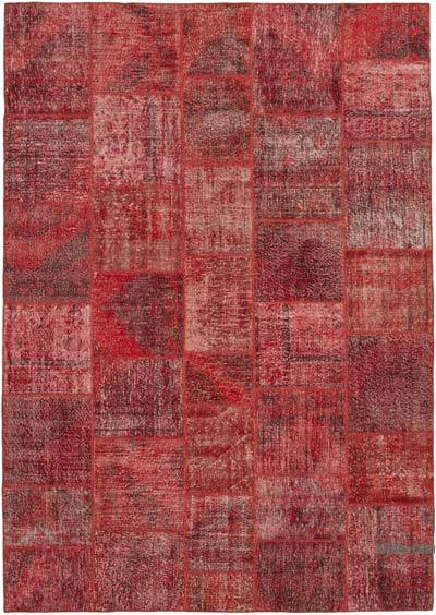"Patchwork Hand-Knotted Turkish Rug - 8' 2"" x 11' 8"" (98 in. x 140 in.)"