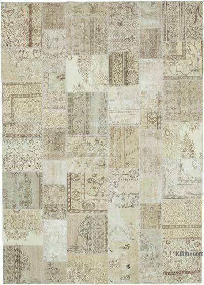 """Patchwork Hand-Knotted Turkish Rug - 8' 2"""" x 11' 6"""" (98 in. x 138 in.)"""