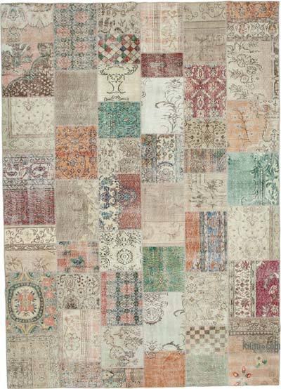 """Hand-knotted Turkish Patchwork Rug - 8' 3"""" x 11' 6"""" (99 in. x 138 in.)"""