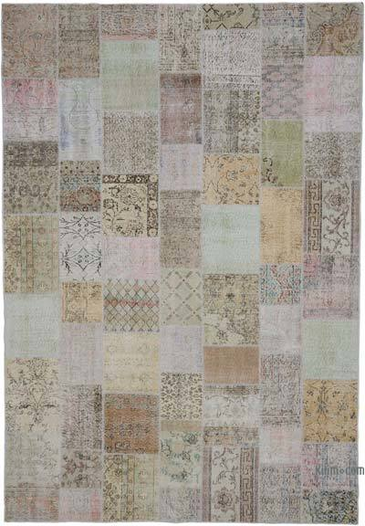 """Hand-knotted Turkish Patchwork Rug - 7' 11"""" x 11' 6"""" (95 in. x 138 in.)"""