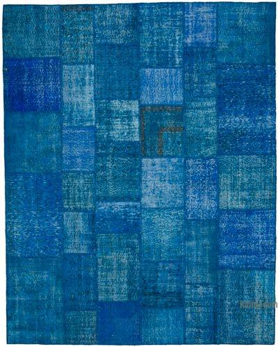 Patchwork Hand-Knotted Turkish Rug - 8'  x 10'  (96 in. x 120 in.)