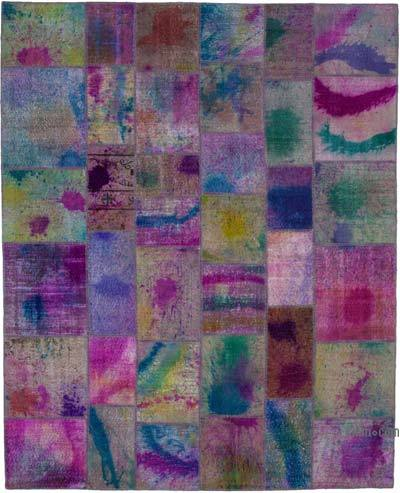 "Hand-knotted Turkish Patchwork Rug - 8'  x 9' 11"" (96 in. x 119 in.)"
