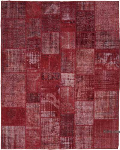 "Hand-knotted Turkish Patchwork Rug - 8' 1"" x 10'  (97 in. x 120 in.)"