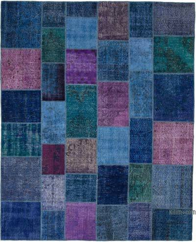 """Patchwork Hand-Knotted Turkish Rug - 8' 1"""" x 9' 11"""" (97 in. x 119 in.)"""