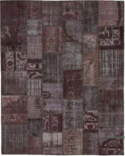 "Hand-knotted Turkish Patchwork Rug - 8'  x 10' 1"" (96 in. x 121 in.)"
