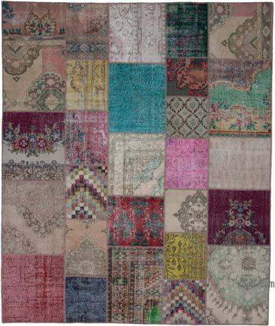 "Hand-knotted Turkish Patchwork Rug - 8' 3"" x 9' 11"" (99 in. x 119 in.)"