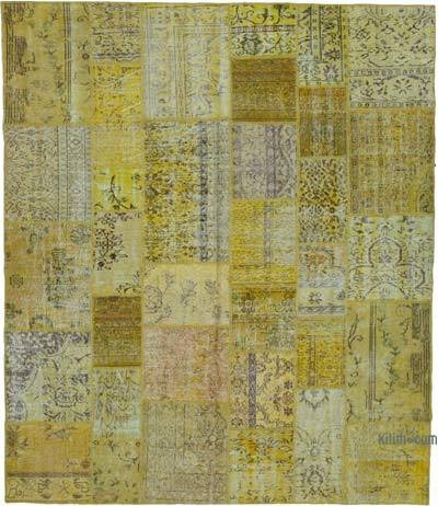 """Hand-knotted Turkish Patchwork Rug - 8' 6"""" x 10'  (102 in. x 120 in.)"""