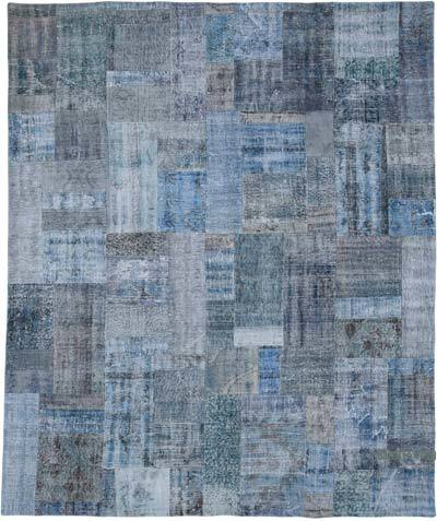 """Hand-knotted Turkish Patchwork Rug - 8' 3"""" x 9' 11"""" (99 in. x 119 in.)"""