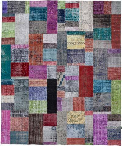 "Hand-knotted Turkish Patchwork Rug - 8' 4"" x 10'  (100 in. x 120 in.)"