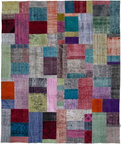 "Hand-knotted Turkish Patchwork Rug - 8' 2"" x 9' 10"" (98 in. x 118 in.)"