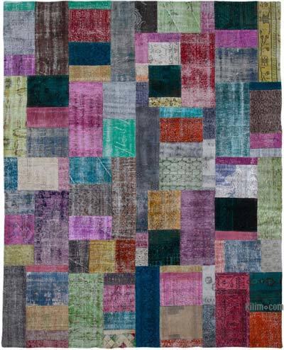 Çok Renkli Boyalı Patchwork Halı - 244 cm x 304 cm