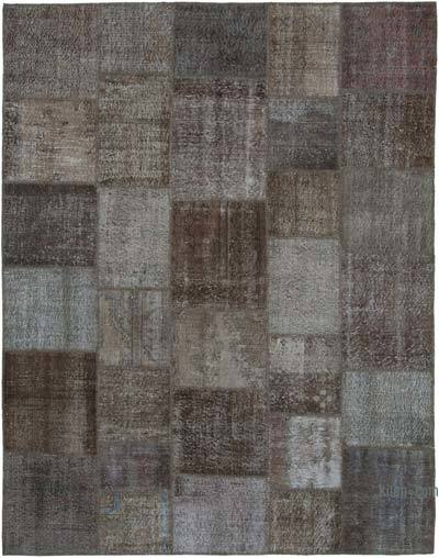 """Hand-knotted Turkish Patchwork Rug - 7' 10"""" x 10'  (94 in. x 120 in.)"""