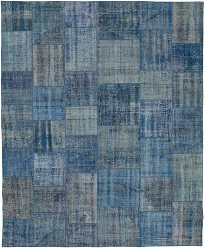 "Hand-knotted Turkish Patchwork Rug - 8'  x 9' 9"" (96 in. x 117 in.)"