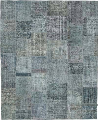 "Hand-knotted Turkish Patchwork Rug - 8'  x 9' 10"" (96 in. x 118 in.)"