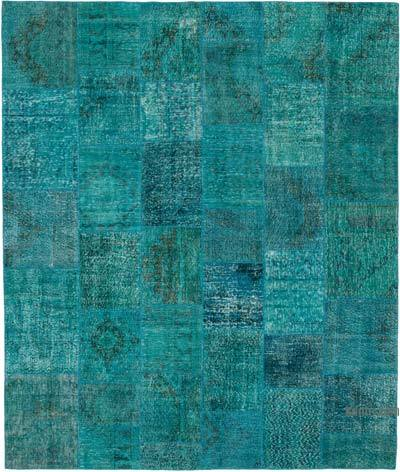 "Hand-knotted Turkish Patchwork Rug - 8' 3"" x 9' 9"" (99 in. x 117 in.)"