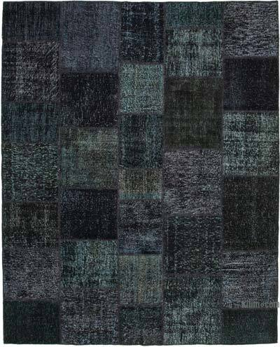 "Hand-knotted Turkish Patchwork Rug - 8' 2"" x 10'  (98 in. x 120 in.)"