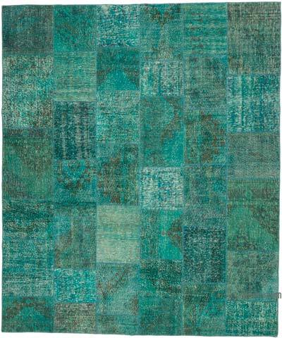 """Hand-knotted Turkish Patchwork Rug - 8' 3"""" x 9' 10"""" (99 in. x 118 in.)"""