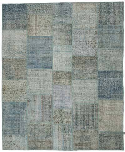 "Hand-knotted Turkish Patchwork Rug - 8' 1"" x 9' 10"" (97 in. x 118 in.)"
