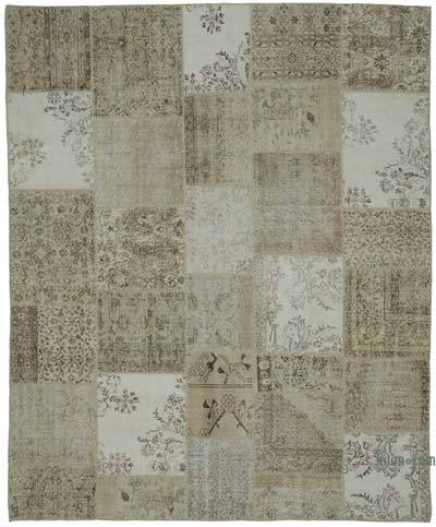 """Hand-knotted Turkish Patchwork Rug - 8' 2"""" x 9' 10"""" (98 in. x 118 in.)"""