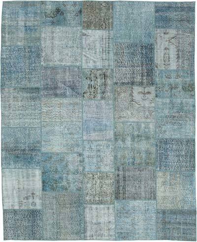 """Hand-knotted Turkish Patchwork Rug - 8' 1"""" x 9' 10"""" (97 in. x 118 in.)"""